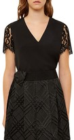 Ted Baker Jessin Lace-Sleeve Top