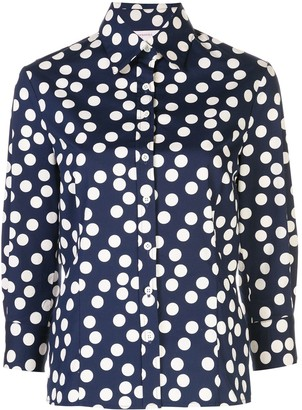 Carolina Herrera Polka Dot Print Shirt