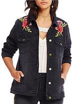 Ban Jara Floral Embroidered Denim Jacket