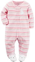Carter's Baby Girl Striped Terry Sleep & Play
