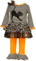 Bonnie Jean Little Girls Halloween Cat Tutu Set