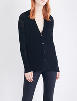 Helmut Lang Frayed-trim wool cardigan