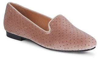Saks Fifth Avenue Studded Velvet Loafers