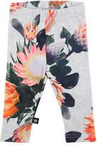 Molo Stefanie Floral Stretch Jersey Leggings, Gray, Size 6-24 Months