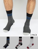 Original Penguin 3 Pack Socks Mixed Stripe