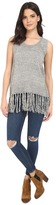Brigitte Bailey Fringe Bottom Sleeveless Tunic