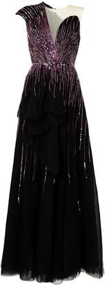 Saiid Kobeisy Sequin One-Shoulder Dress