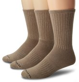 Carhartt Mens 3 Pack Work Wear Cushioned Crew Socks
