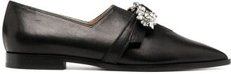 Giannico Penelope crystal loafers