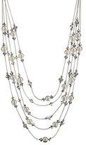 Cezanne Multi-Row Pearl Bead Necklace