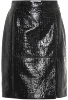 MSGM Embossed faux leather skirt
