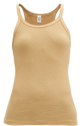 RE/DONE Ribbed Cotton Camisole - Beige