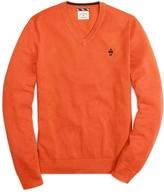 Brooks Brothers Supima® Pique Stitch V-Neck Sweater