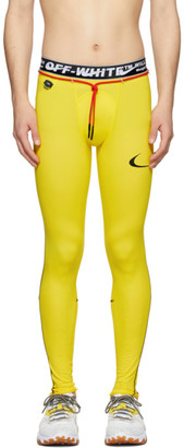 Nike Yellow Off-White Edition NRG RU Pro Sport Leggings