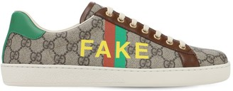 """Gucci Gg Supreme """"Fake Not"""" New Ace Sneakers"""