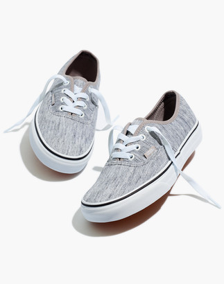 Madewell Vans Unisex Authentic Lace-Up Sneakers in Grey Rib