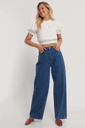 NA-KD Cropped Frill Neck Top
