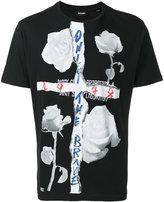 Diesel rose print T-shirt