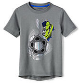 Lands' End Little Boys Active Graphic Tee-Navy Blue