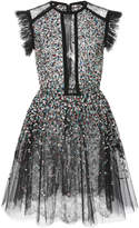 Elie Saab Beaded Embroidered Tulle Dress
