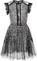 Elie Saab Beaded Embroidered Tulle Dress