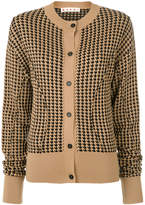 Marni Houndstooth sculpted cardigan