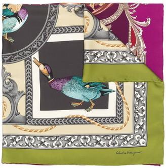 Salvatore Ferragamo Duck Print Scarf