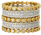 Freida Rothman Five-Row Pavé Crystal Stacking Ring