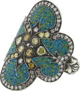 Sevan Biçakci Turquoise Micro Mosaic Shield Ring