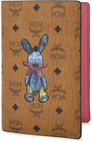 MCM Rabbit leather passport holder, Cognac