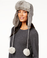 Surell Sweater Knit and Rabbit Fur Trooper Hat