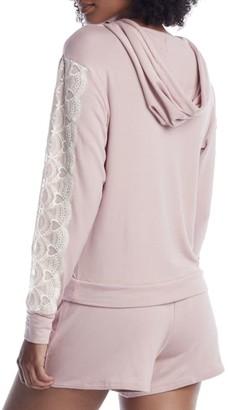 Flora Nikrooz Shell Pink Knit Hoodie Pajama Set
