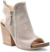 Isola Iliana City Perforated Suede Side-Zip Block Heel Dress Sandals