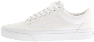 Mens White Leather Vans | Shop the