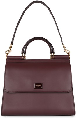 Dolce & Gabbana Sicily 58 Leather Tote Bag