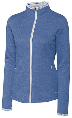 Cutter & Buck Women's Non-Denim Casual Jackets Blue - Navy Brisk Mock Neck Zip-Up Fleece Jacket - Women & Plus