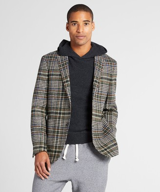 Todd Snyder Unconstructed Plaid Sportcoat in Olive