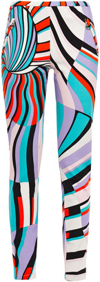 Emilio Pucci Printed Stretch-jersey Skinny Pants