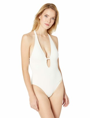 Vince Camuto Women's Plunging v-Neck one-Piece Swimsuit w/Removable Soft Cups
