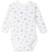 Petit Bateau Newborn baby boy long-sleeved printed bodysuit
