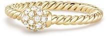 David Yurman Solari Station Ring with Diamonds in 18K Gold