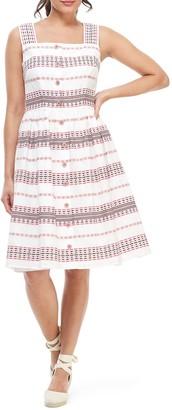 Gal Meets Glam Stripe Button Down Midi Dress