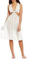 Cassandra Luna Goddess Pleated Chiffon Nightgown