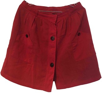 A.P.C. Red Wool Skirts