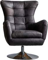 Gallery Home Armchairs Bristol Swivel Armchair, Antique Ebony