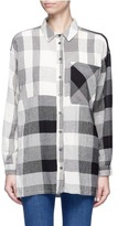 Topshop 'Zelda' check plaid crinkled cheesecloth shirt