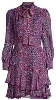 Shoshanna Cynthia Heart Print Mini Dress