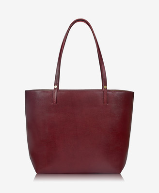 GiGi New York Tori Tote, Burgundy Croix Grain Leather