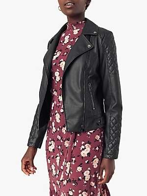 Oasis Faux Leather Biker Jacket