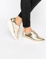 Aldo Rivale Metallic Chunky Flat Shoes